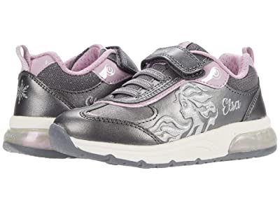 Geox Kids Spaceclub 8 (Toddler/Little Kid) (Dark Silver/Lilac) Girl