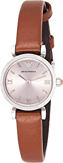 Emporio Armani Ladies'Watch Xs Analogue Quartz Ar1685 Leather, Brown Band