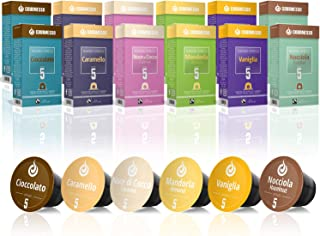Gourmesso Caja de sabores – 120 cápsulas de café compatibles con cafetera Nespresso ®*