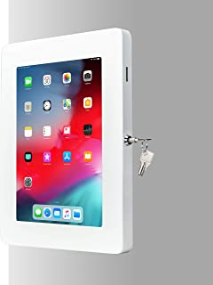 "Tablet Mount, CTA Digital Premium Locking On-Wall Flush Mount for iPad 10.2-Inch (7th Gen.), iPad Air 3 (2019), iPad Gen. 6 (2018), Galaxy Tab S3 9.7"", and More, White"