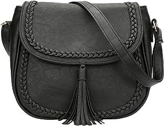 حقائب طويلة تمر بالجسم للسيدات مجوفة مع حزام قابل للتعديل من KKXIU
