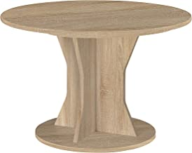 Gami Palace Round Table with 1 Extension, Brown