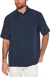 Men's Striped Panel Dobby Button Down Shirt
