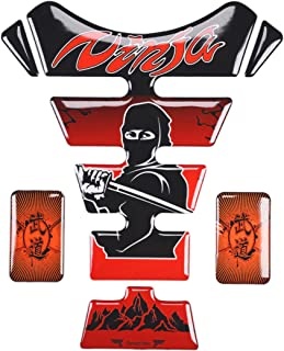 REVSOSTAR Motorcycle Sticker Accessories Reflective Gas Tank Protector Pad Tank pad for Ninja 650 ZX636 ZX600 ZX-10R ZX14 ZX1400 ZX14R ABS 1000 ZX1000 (RED)