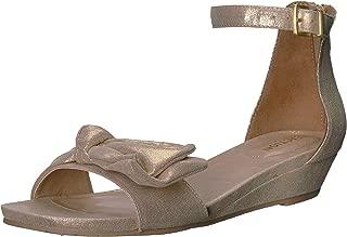 Women's Start Low Wedge Sandal Bow Detail Metallic