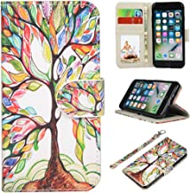 UrSpeedtekLive iPhone 7/iPhone 8 Wallet Case, Premium PU Leather Flip Case Cover with Card Slots & Kickstand for Apple iPhone 7 (2016) / iPhone 8 (2017) -Love Tree