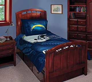The Northwest Company Chargers Northwest NFL Bed Set In A Bag