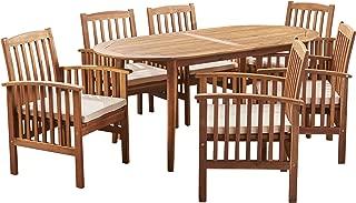Best teak outdoor dining table set Reviews
