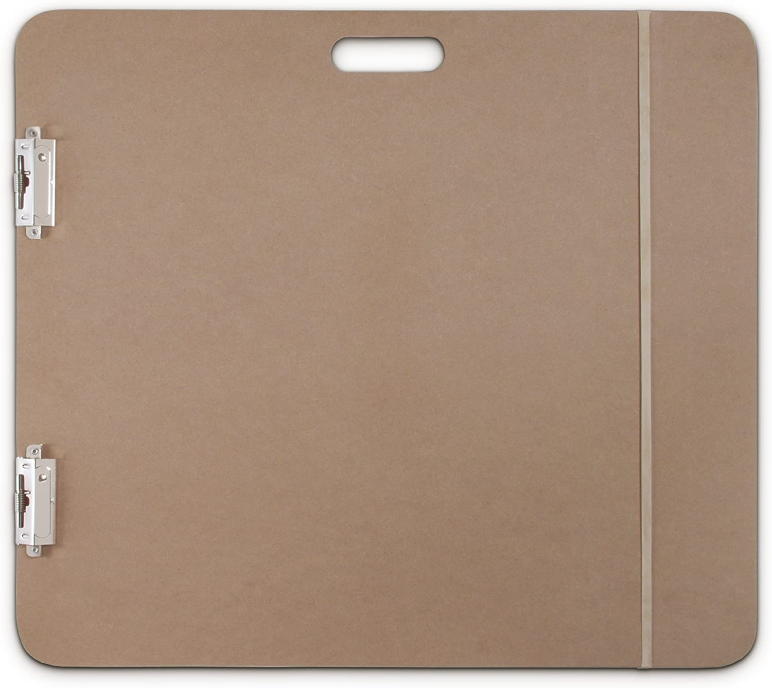 Clipboard with Built-in Handle Solid Drawing Board for Artists Saunders 05607 Recycled Hardboard Sketchboard x 26 in and Creatives Students Brown 23 in