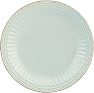 Lenox French Perle Groove Accent Plate, Ice Blue