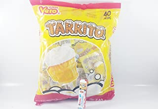 Vero tarrito fruit Flavor Lollipops, 40 Pieces Authentic Mexican Candy with Free Chocolate Kinder Bar Included