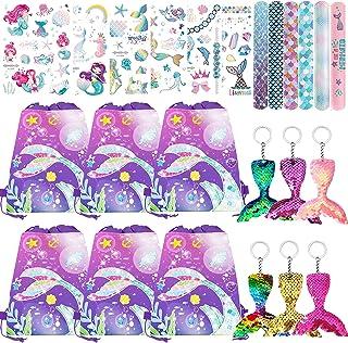 Danirora Mermaid Party Favors, Mermaid Favors for Girls Birthday Mermaid Party Supplies Mermaid Gift Bags Goodie Bag fille...