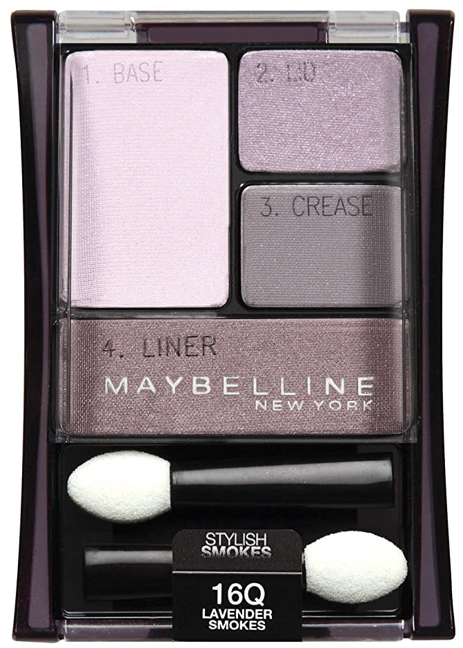 要件試みつぼみMAYBELLINE EXPERT WEAR EYE SHADOW #16Q LAVENDER SMOKES