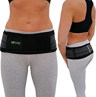Si Belt for Women and Men by No Pain Solution - Sacroiliac Belt Stabilize Si Joint it Alleviate Sciatic, Pelvic, Lower Back and Leg Pain - FDA Approved
