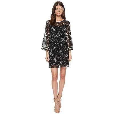 kensie Fresh Floral Dress KS3K8081 (Black Combo) Women