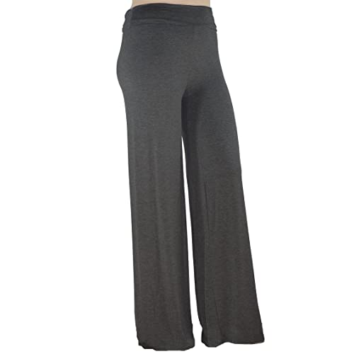 3e930e6bbfb Stylzoo Women s Plus Size Premium Modal Rayon Softest Ever Palazzo Solid  Stretchy Knit Pants Made in