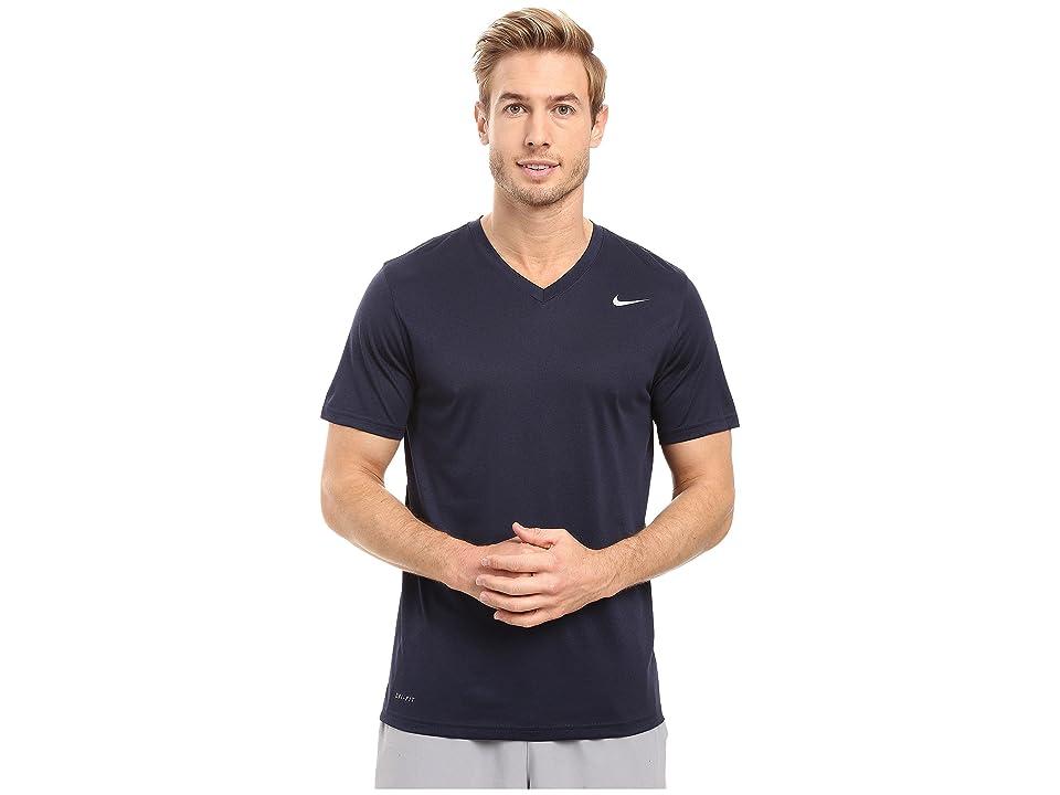 Nike Legend 2.0 Short Sleeve V-Neck Tee (Obsidian/Black/Matte Silver) Men
