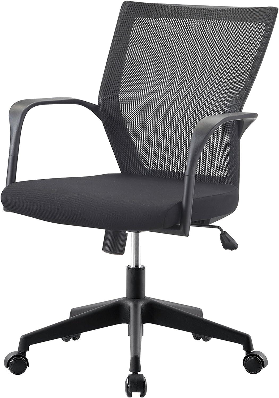 Impacterra Bozano Office Chair, Black Fabric, (QLBZ16412035)