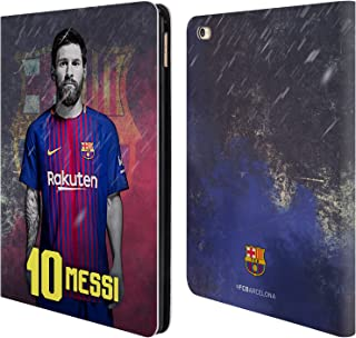 Official FC Barcelona Lionel Messi 2017/18 First Team Group 1 Leather Book Wallet Case Cover Compatible for iPad Air 2 (2014)