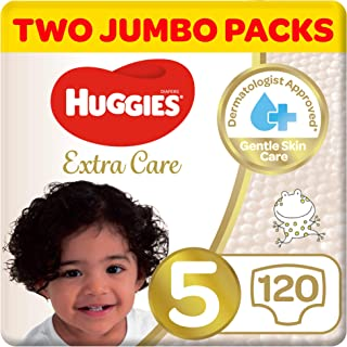 Huggies Extra Care, Size 5, Two Jumbo Packs, 120 Diapers
