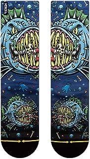 Merge4 x Jimbo Phillips Men's Jimbo Bad Fish Socks Blue Multi L