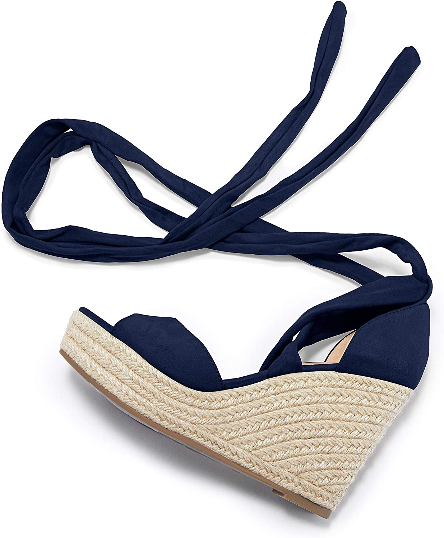 Huiyuzhi Translated Womens Phoenix Mall Lace Up Platform T Wedge Open Espadrille Sandals
