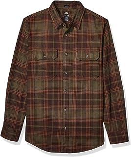 Dickies Men`s Long Sleeve Heavyweight Flannel Shirt