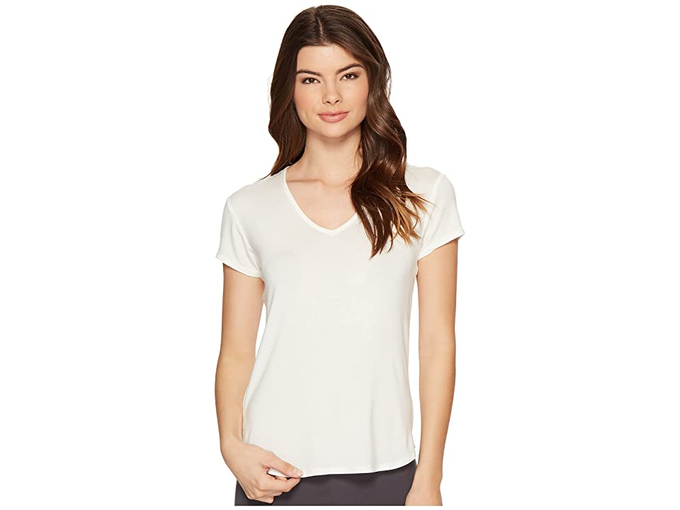 P.J. Salvage Lace Back Tee (Natural) Women