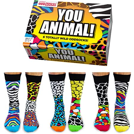 United Oddsocks - Mens Socks - You Animal UK 6-11 EUR 39-46 US 7-12