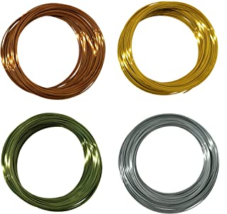 Kehuashina Silk PLA Filament Sample for 3D Printers and Pens (1.75mm Diameter Filament) 4pcs 400g / 120m(Total) Silk Gold ...