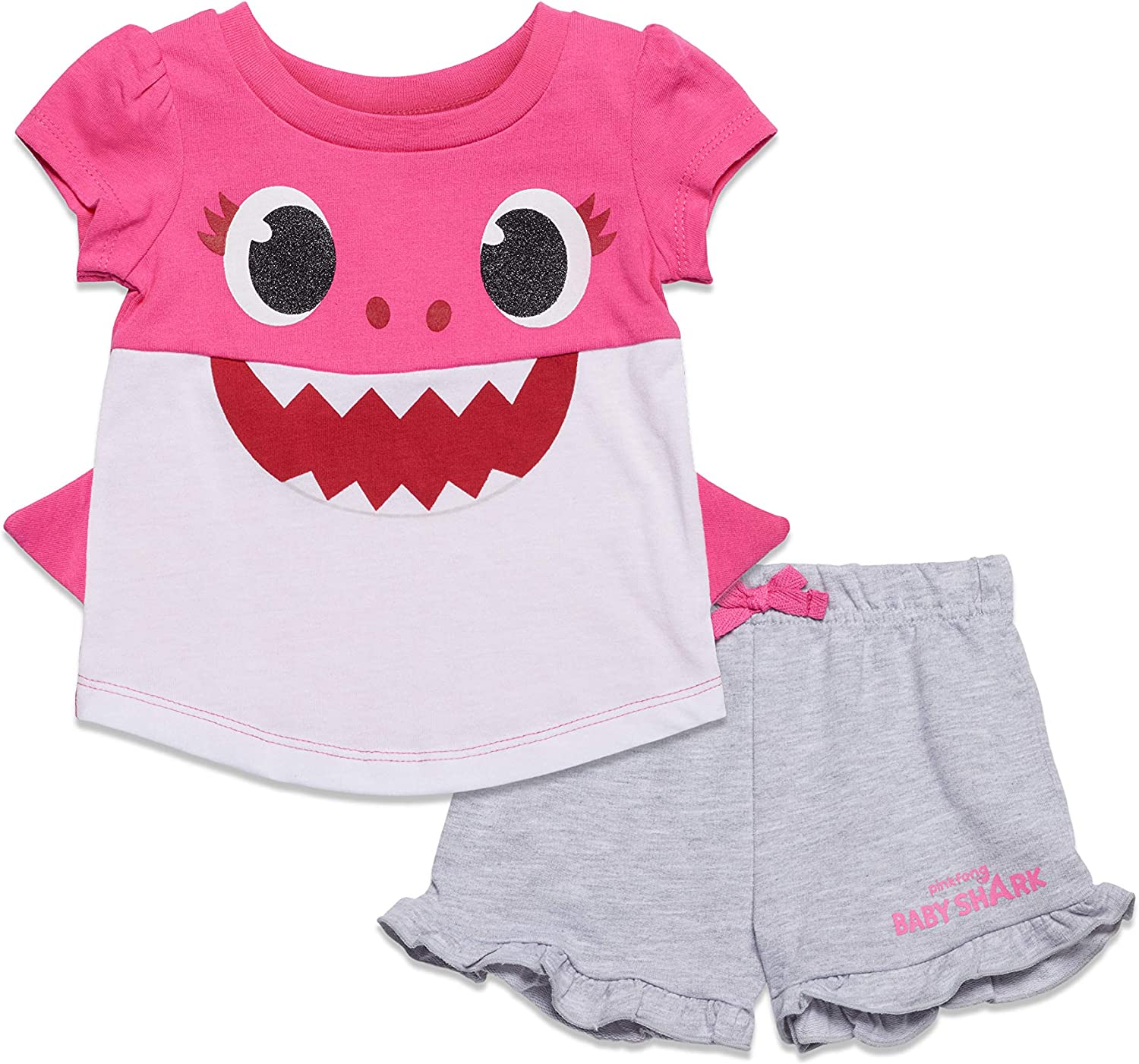 Pinkfong Mommy OFFicial Shark Short Sleeve Graphic Terry T-Shirt French Max 89% OFF