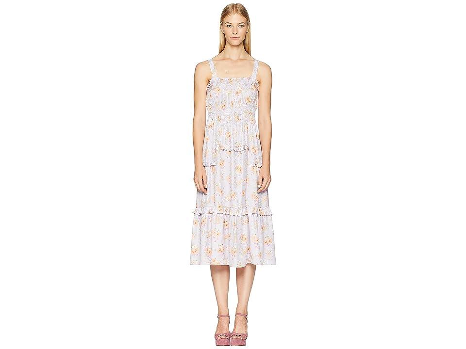 Rebecca Taylor Sleeveless Emilia Tank Dress (Lavender Combo) Women