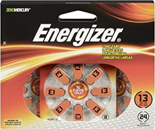 Energizer AZ13DP-24 EZ Turn and Lock Hearing Aid Size 13 Batteries, 24-Pack