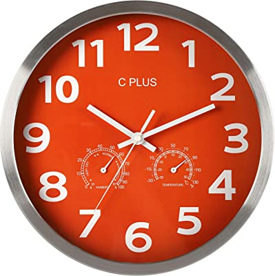 Amazon Com Seiko Wall Clock Silver Tone Metallic Case Luminous Numerals Home Kitchen