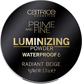 Catrice Prime & Fine Luminizing Waterproof Powder - Universal Beige Color for All Skin