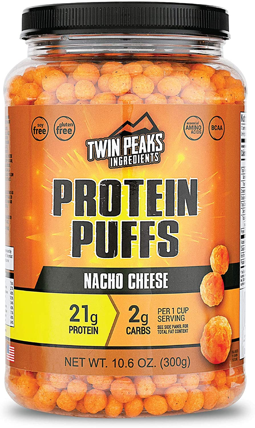 Twin Peaks service Low Carb Keto Nacho Cheese Puffs Friendly Protein Ranking TOP9