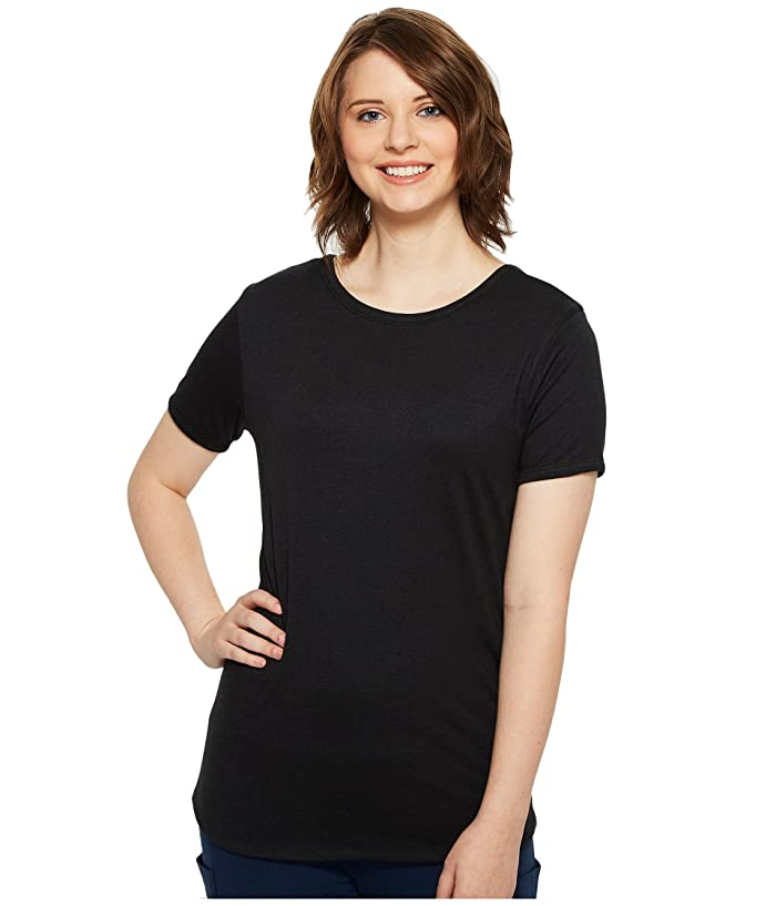 4Ward Clothing  Four-Way Reversible Short Sleeve Scoop Jersey Top (Black/Black) Girls Clothing