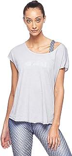 BodyTalk Women's Short-Sleeved T-Shirt, Grey (Light Grey), Large