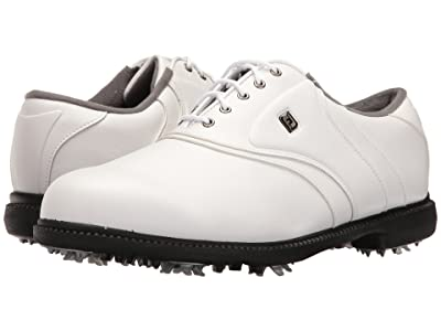 FootJoy Originals Cleated Plain Toe Twin Saddle (White) Men