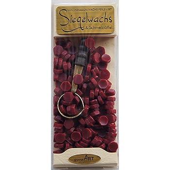 Gravurart ceralacca con stoppino in rosso 3/bar