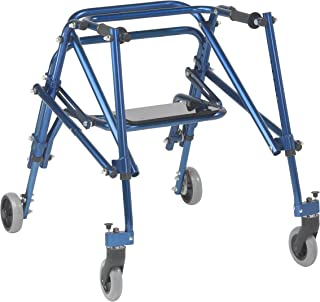 Inspired by Drive Nimbo 2G Lightweight Posterior Walker with Seat, Knight Blue, Medium