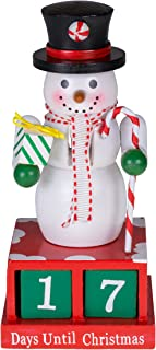 Clever Creations 24 Plus Day Snowman Advent Calendar Countdown to Christmas | Painted Numbers | Black Top Hat with Candy Cane & Gift | 100% Wood Construction | Unique Holiday Decoration | 6