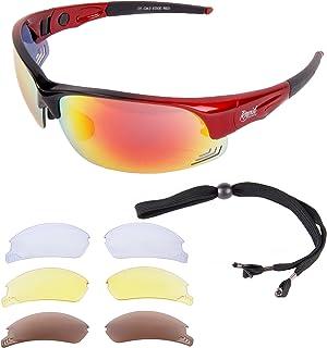 80c6d8765d Rapid Eyewear hombres y mujeres 'Edge Red Cycle' GAFAS DE SOL PARA CICLISMO  con