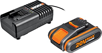 WORX WA3601 Accu met oplader set: 20V 2000mAh Li-Ion batterij & accu laadstation