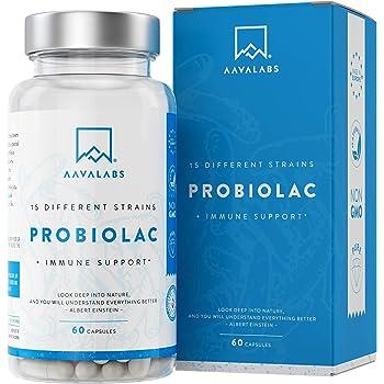 Integratore Probiotico [ 30 Miliardi ] - 60 Capsule - 15 Formula ad Ampio Spettro di Ceppi Prebiotici - tra cui Lactobacillus Acidophilus e Bifidobacterium - Supporta il Sistema Immunitario