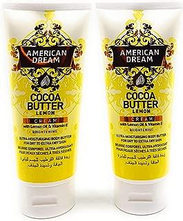 American Dream Cocoa Butter Body Cream with Lemon Oil & Vitamin E for Brightening TUBE TWIN PACK 150ml