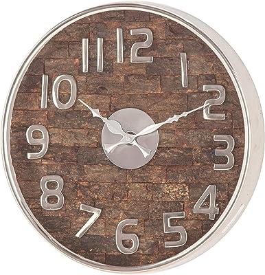 Amazon Com 13 Inch Modern Wall Clock Handmade Wall Clocks For Living Room Decor Great Kitchen Clock Bathroom Clock Farmhouse Clock Rustic Wall Clock Wall Clocks Battery Operated Or Farmhouse Wall
