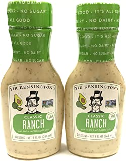Sir Kensington's Ranch Avocado Oil with Lime, 9 oz   2 Pack
