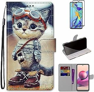 MUTOUREN Hoesje voor Samsung Galaxy A32 4G con Schermbeschermer, PU Lederen Case Flip Wallet Cover Magneet Beschermende Sc...