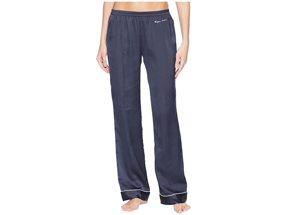 Emporio Armani Pajama Couture Loose Fit Pants (Night Blue) Women